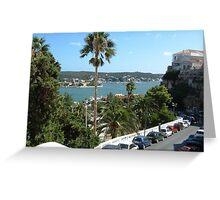Hospital Island Mahon Menorca Greeting Card