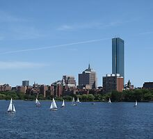 Boston: Charles River: Sail Boats (Full Color) by PhotoPeep