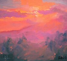 Sunset, Kula, Maui by Norman Kelley