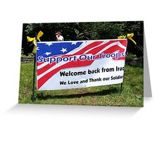 H0N0R A VETERAN! Greeting Card