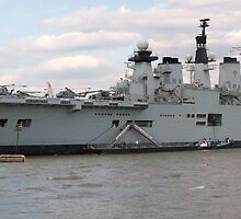 HMS Illustrious in Greenwich Meantime by Terry Senior