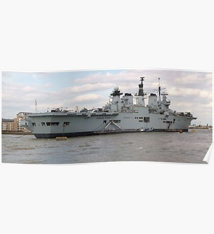 HMS Illustrious in Greenwich Meantime Poster