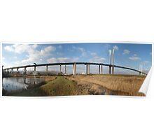Panorama of the Dartford Crossing QE II Bridge Poster