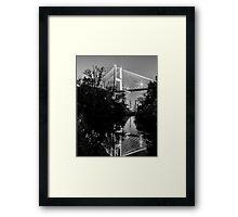 Talmadge Memorial Bridge Reflection Framed Print