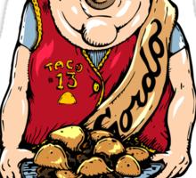 El Gordo and the Secret Order of the Tacos Sticker