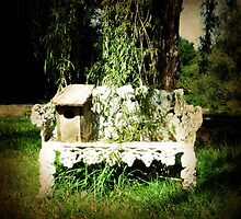 Little Old Bench in the Summer Breeze by Bine