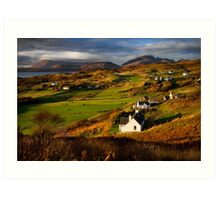 Tarskavaig in November. Isle of Skye. Scotland. Art Print