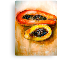Still Life with Two Papayas Canvas Print