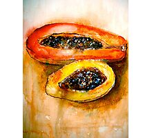 Still Life with Two Papayas Photographic Print