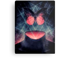 Beautiful Symmetry Surreal Butterfly Metal Print