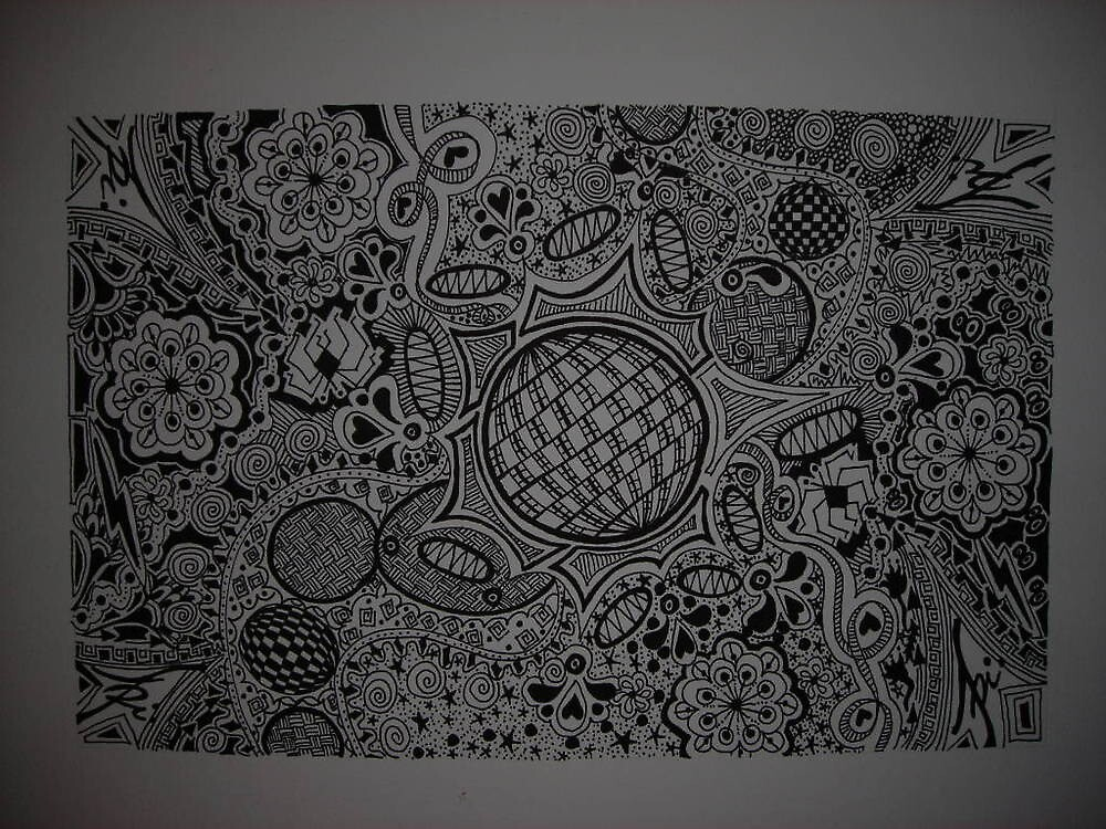 #2 black and white abstract~ Completed !!! by abigirl