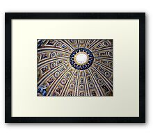 St Peter's dome, Vatican City Framed Print