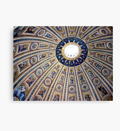 St Peter's dome, Vatican City Canvas Print