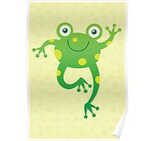 Smiling Baby Frog Poster