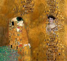Klimt -  Woman in Gold - The Kiss by Alison Lyons