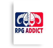 RPG Addict Canvas Print
