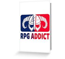 RPG Addict Greeting Card