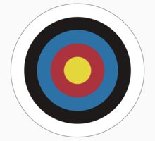 Bulls Eye, Archery, Right on Target, Roundel, Shooting, on White Kids Clothes