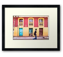 Yellow and Blue - Colored Wall Framed Print