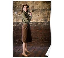 Tanya Wheelock as Peggy Carter (Photography by Steven Sze) Poster