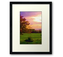 the view from here... rainy psychedelia Framed Print