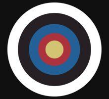 Bulls Eye, Right on Target, MOD Roundel, on BLACK by TOM HILL - Designer