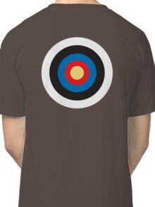 Bulls Eye, Right on Target, MOD Roundel, on BLACK Classic T-Shirt