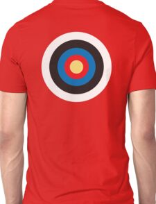 Bulls Eye, Target, MOD, Roundel, on BLACK Unisex T-Shirt