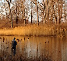 Presque Isle Fisherman by Kathy Weaver