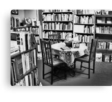 Book Store Reading room Canvas Print