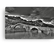Ponte della Maddalena aka Devil's Bridge Canvas Print