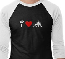 I Heart Space Mountain (Classic Logo) (Inverted) Men's Baseball ¾ T-Shirt
