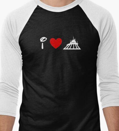 I Heart Space Mountain (Classic Logo) (Inverted) Men's Baseball ¾ T-Shirt