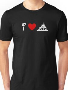 I Heart Space Mountain (Classic Logo) (Inverted) Unisex T-Shirt