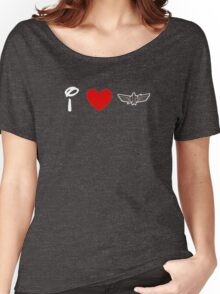 I Heart Star Command (Classic Logo) (Inverted) Women's Relaxed Fit T-Shirt