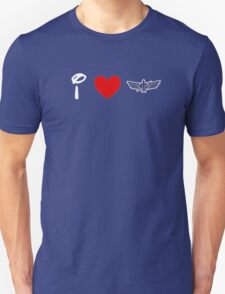 I Heart Star Command (Classic Logo) (Inverted) T-Shirt