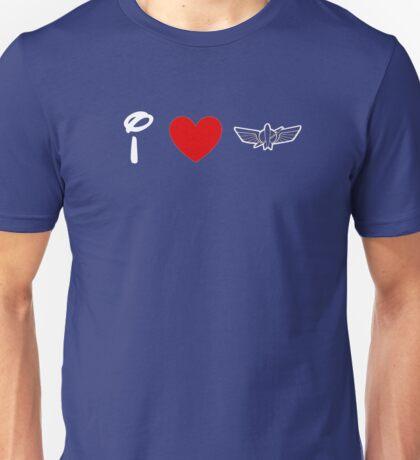 I Heart Star Command (Classic Logo) (Inverted) Unisex T-Shirt