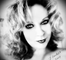 Sweet Cheeks Self Portrait B/W by Julie Everhart