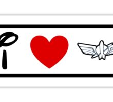 I Heart Star Command (Classic Logo) Sticker