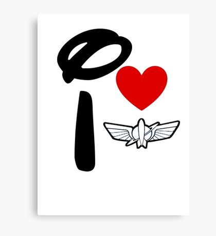 I Heart Star Command (Inverted) Canvas Print