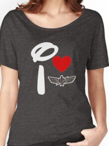 I Heart Star Command (Inverted) Women's Relaxed Fit T-Shirt