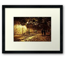 Spooky night out Framed Print