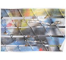 Abstract colorful wall. Poster