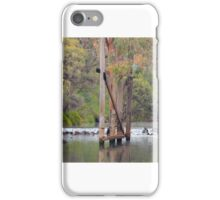 Murray River Weir with Traffic Bridge iPhone Case/Skin