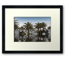 Isle of clocks Framed Print