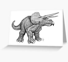 Triceratops (pencil) Greeting Card