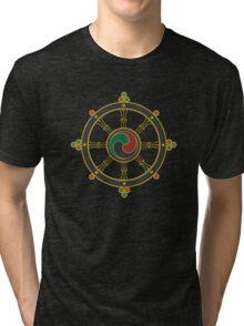 Buddhist Wheel of Dharma Tri-blend T-Shirt