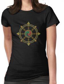 Buddhist Wheel of Dharma Womens Fitted T-Shirt