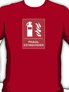 Funny Hot Spicy Curry Phaal Fire Extinguisher Joke T-Shirt