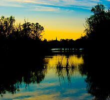 Sunset over a Lake by Pixie Copley LRPS